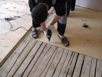 Ремонт деревянного основания
