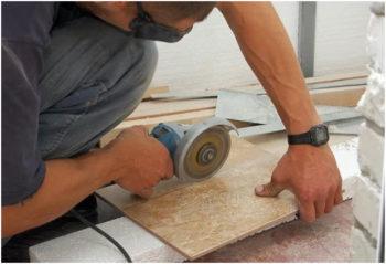Болгаркой можно отрезать и керамическую плитку