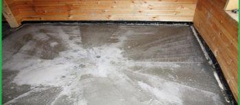 Проведение стяжки для напольного покрытия, имеющего уклон