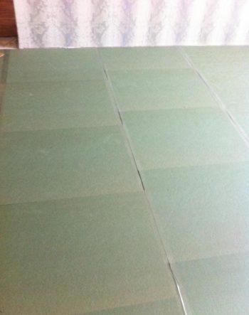 Уложенные плиты подложки под ламинат