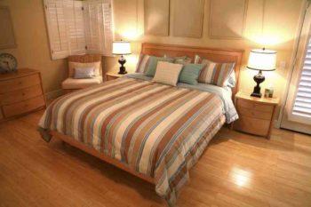 На спальню можно использовать материал не самого хорошего качества прочности