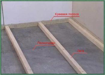 Лаги на бетонный пол