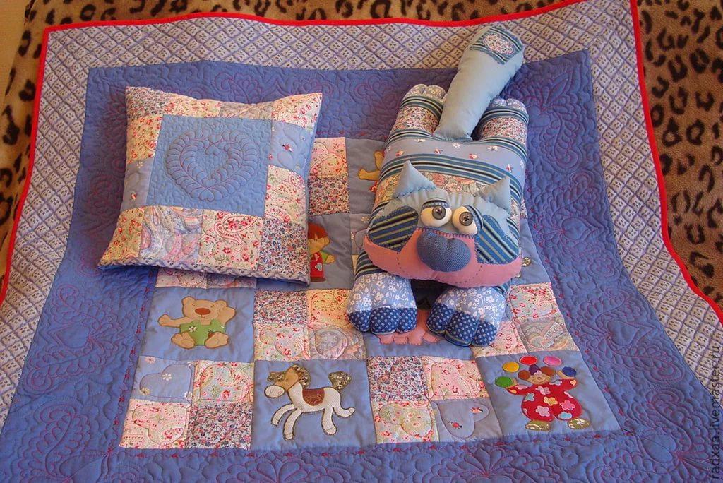 Лоскутное одеяло из ткани своими руками