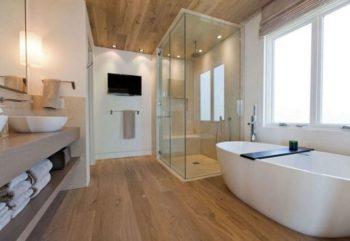 Ламинированный пол в ванной
