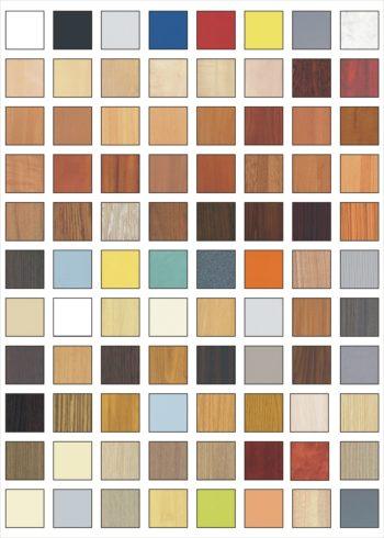 Ассортимент цветов панелей