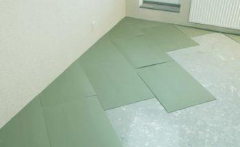 Подложка на черновом бетонном полу