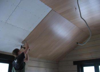 Установка потолка