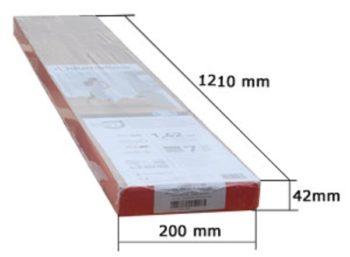 Размеры досок в упаковке