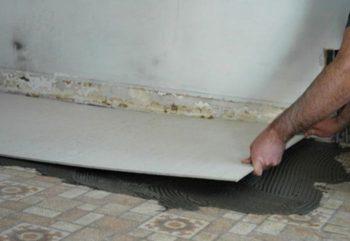 Укладка плитки на пол из ЦСП — особенности технологического процесса