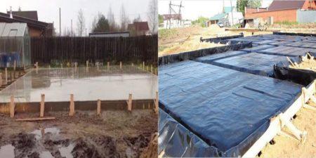 Гидроизоляция плитного сооружения