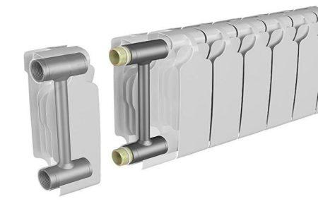 Биметаллические радиаторы: стандартная схема конструкции