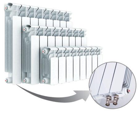 Образцы модели Rifar Base Ventil с разным межосевым расстоянием