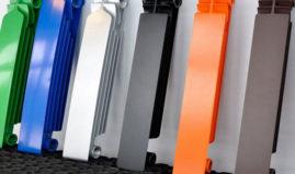 Пример окрашенных секций радиатора
