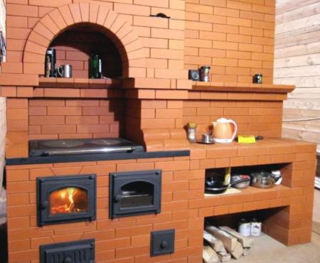 Печь для приготовления пищи и отопления жилья